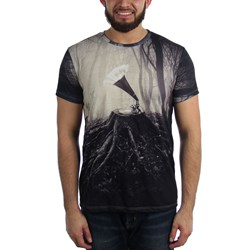 Imaginary Foundation - Mens Record Player Trees Sublimation T-Shirt