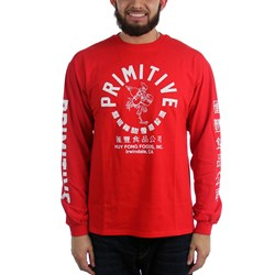 Primitive - Mens Big Arch Rooster Long Sleeve T-Shirt