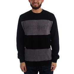 Stussy Mens Paneled Ls Crew Sweater