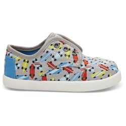 Toms Tiny Paseo Canvas Printed Sneaker