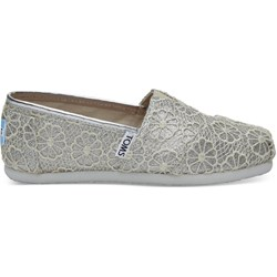 Toms Youth Alpargata Crochet And Lace Espadrille