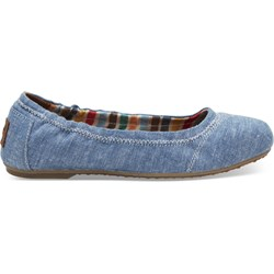 Toms Youth Ballet Denim Chambray Flat