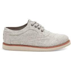 Toms Youth Brogue Linen Dress Lace-Up