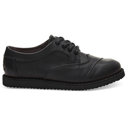 Toms Youth Brogue Synthetic Leather Dress Lace-Up