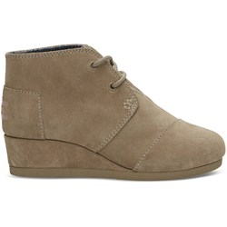Toms Youth Desert Wedge Suede Bootie