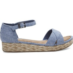 Toms Youth Harper Denim Chambray Wedge