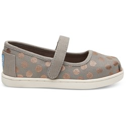 Toms Tiny Mary Jane Canvas Printed Flat