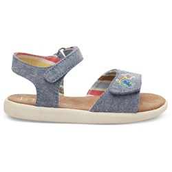 Toms Tiny Strappy Embroidery Embellished Sandal