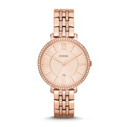 Fossil Jacqueline Rose Gold Stainless Steel Watch ES3546