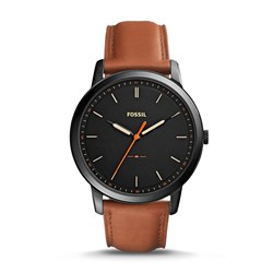 Fossil Men's FS5305 The Minimalist Slim Three-Hand Light Brown Leather Watch