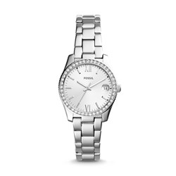Fossil Women's Scarlette Three-Hand Date Stainless Steel Watch (Model: ES4317)