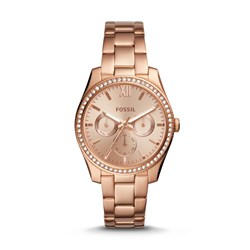 Fossil Scarlette Multifunction Rose Gold-Tone Stainless Steel Watch (Model: ES4315)