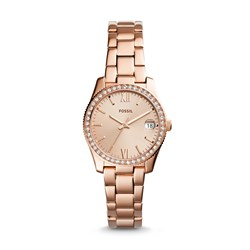 Fossil Women's Scarlette Three-Hand Date Rose Gold-Tone Stainless Steel Watch (Model: ES4318)