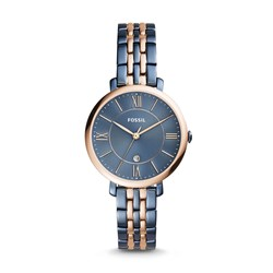 Fossil Women's Jacqueline Three-Hand Date Two-Tone Stainless Steel Watch (Model: ES4321)