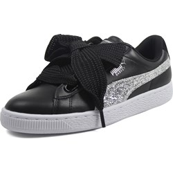 PUMA - Womens Basket Heart Glitter Sneakers