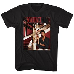 Scarface - Mens Statue Stairs T-Shirt