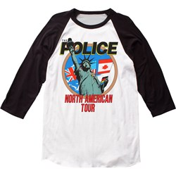 The Police - Mens North American Tour Baseball Jersey T-Shirt
