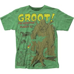 Guardians of the Galaxy - Mens Groot Jersey T-Shirt
