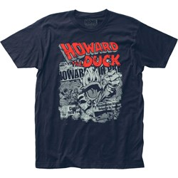 Howard the Duck - Mens Newspaper Jersey T-Shirt
