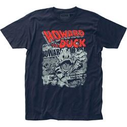 Howard the Duck - Mens Newspaper Jersey T-Shirt