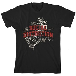 Social Distortion - Mens White Light Icons T-Shirt