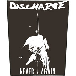 Discharge - Unisex-Adult Never Again Patch