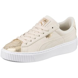 PUMA - Womens Basket Platform Canvas Shoes