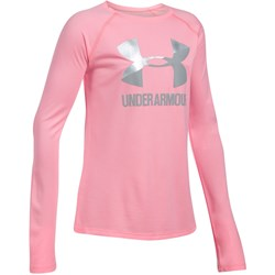 Under Armour - Girls Big Logo Slash LS Long-Sleeves T-Shirt