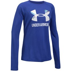 Under Armour - Girls Big Logo Slash LS Long-Sleeves T-Shirt