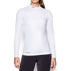 Under Armour - Womens ColdGear Fitted Long Sleeve Mock Long-Sleeves T-Shirt