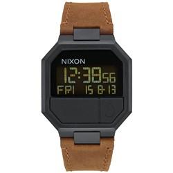 Nixon Men's Re-Run Leather Digital Watch