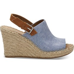 Toms Women's Monica Denim Chambray Wedge