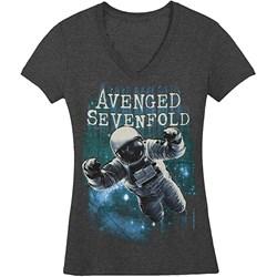 Avenged Sevenfold Space Junior's V-Neck T-Shirt