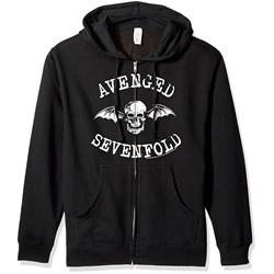 Avenged Sevenfold Deathbat Mens Zip Hoodie