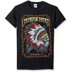 Lynyrd Skynyrd Indian Skeleton Mens Regular T-Shirt