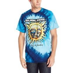 Sublime 40oz to Freedom Blue Mens Tie Dye T-Shirt