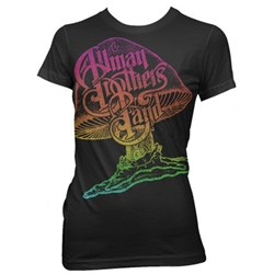 The Allman Brothers Band Rainbow Mushroom Logo Junior's T-Shirt