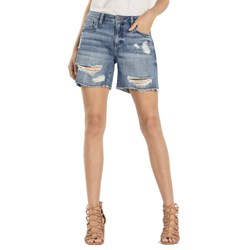 Miss Me - Womens Break the Rules Mid-Rise Distressed Shorts