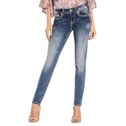 Miss Me - Womens City Limits Mid-Rise Skinny Jeans