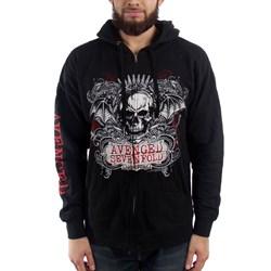Avenged Sevenfold Ornate Skull Mens Zip Hoodie