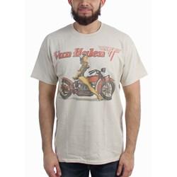 Van Halen Biker Pin Up Mens Regular T-Shirt
