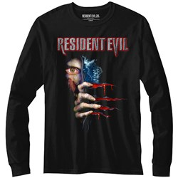 Resident Evil - Mens Peekin' Long Sleeve T-Shirt
