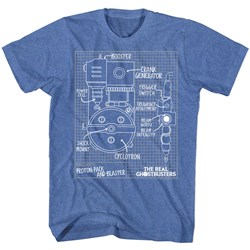 Real Ghostbusters - Mens Blueprints T-Shirt