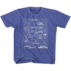 Real Ghostbusters - Unisex-Child Blueprints T-Shirt