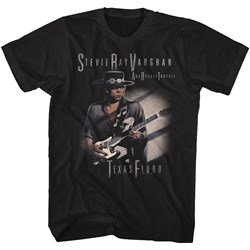 Stevie Ray Vaughn - Mens Texas Flood Too T-Shirt