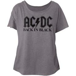 Acdc - Womens Bib In Black Dolman T-Shirt