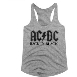 Acdc - Womens Bib In Black Racerback Tank Top