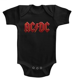 Acdc - Unisex-Baby Distress Red Onesie