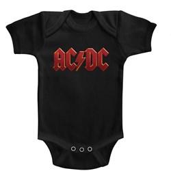 Acdc - Unisex-Baby Distress Red Onesie