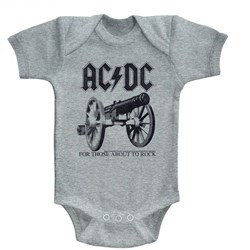 Acdc - Unisex-Baby About To Rock Again Onesie